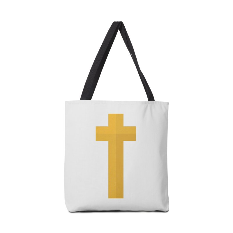 The Cross (gold) Accessories Bag by Reformed Christian Goods & Clothing