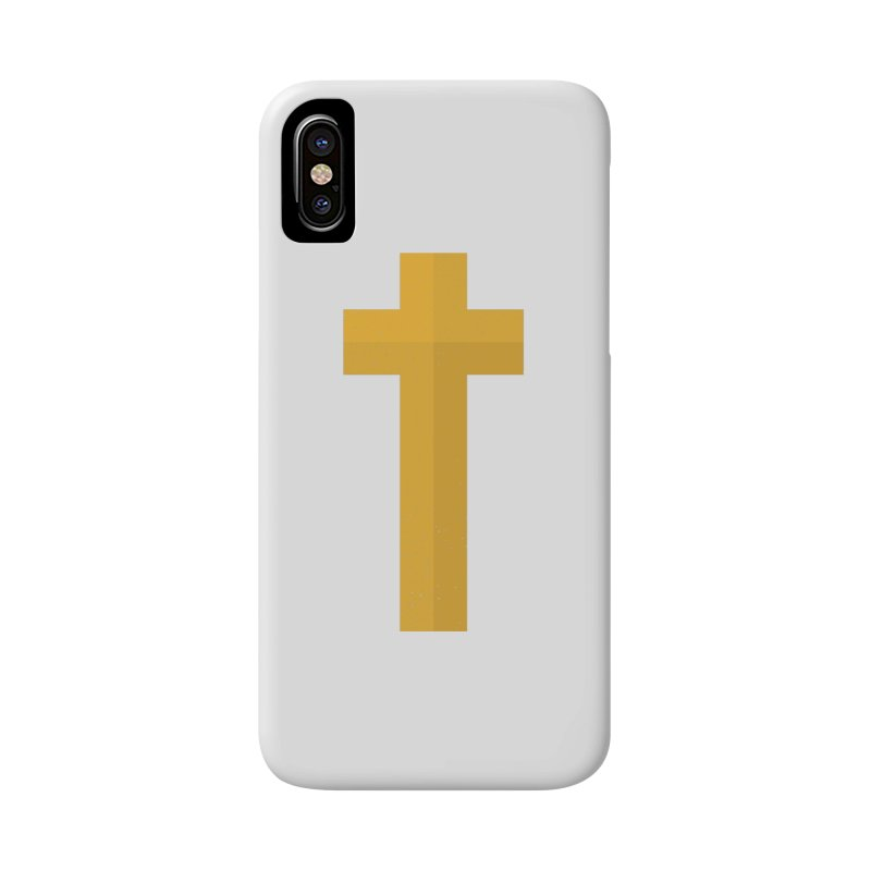 The Cross (gold) Accessories Phone Case by Reformed Christian Goods & Clothing