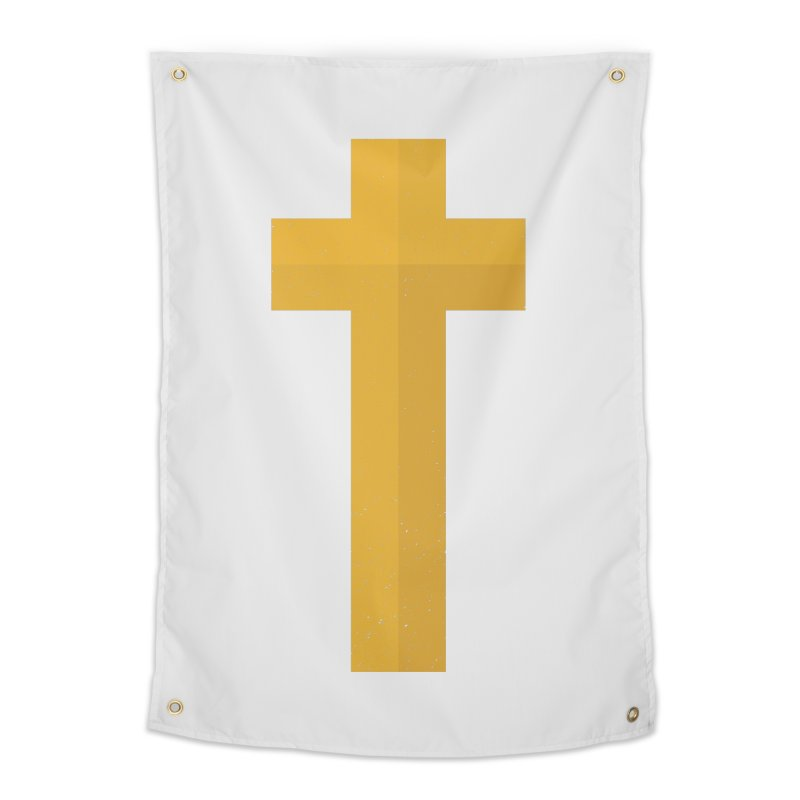 The Cross (gold) Home Tapestry by Reformed Christian Goods & Clothing