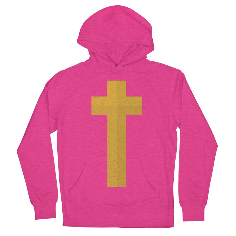 The Cross (gold) Women's French Terry Pullover Hoody by Reformed Christian Goods & Clothing