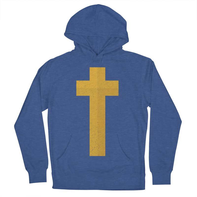 The Cross (gold) Men's Pullover Hoody by Reformed Christian Goods & Clothing