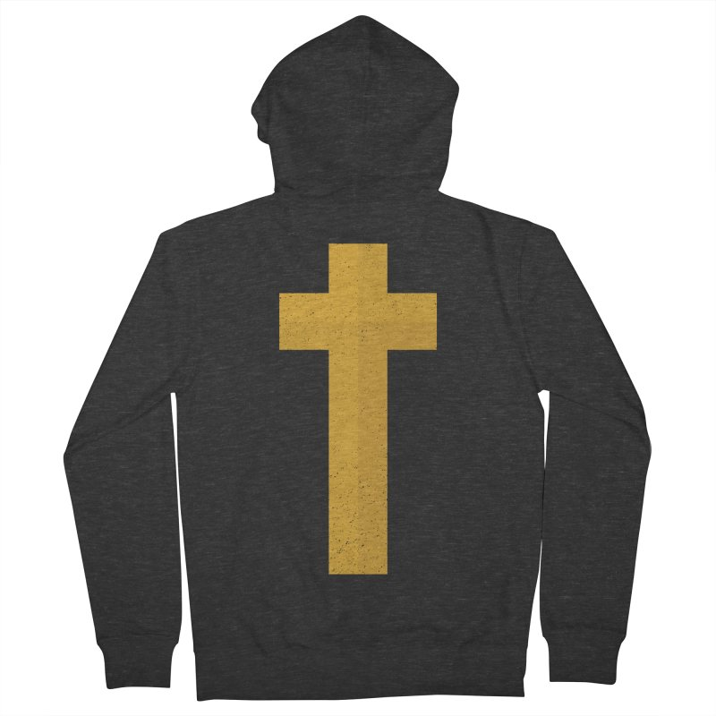The Cross (gold) Women's French Terry Zip-Up Hoody by Reformed Christian Goods & Clothing