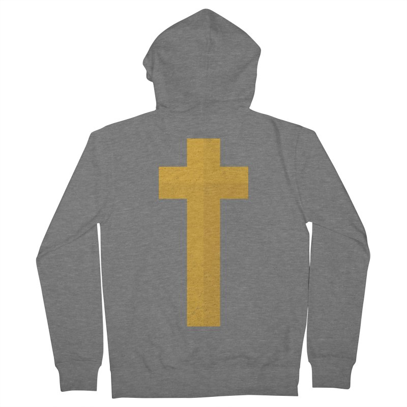 The Cross (gold) Women's French Terry Zip-Up Hoody by A Worthy Manner Goods & Clothing