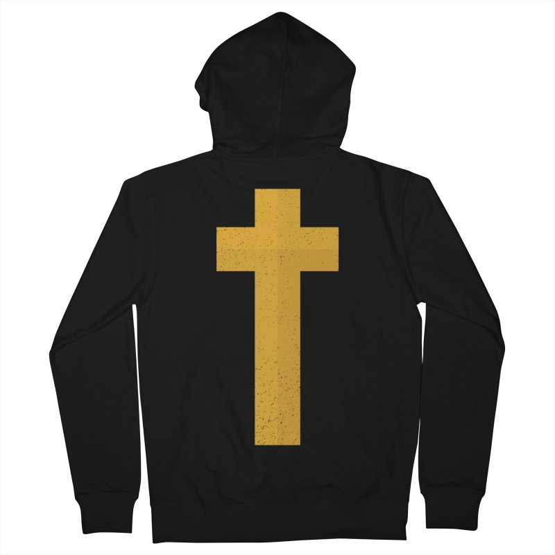 The Cross (gold) Women's Zip-Up Hoody by Reformed Christian Goods & Clothing