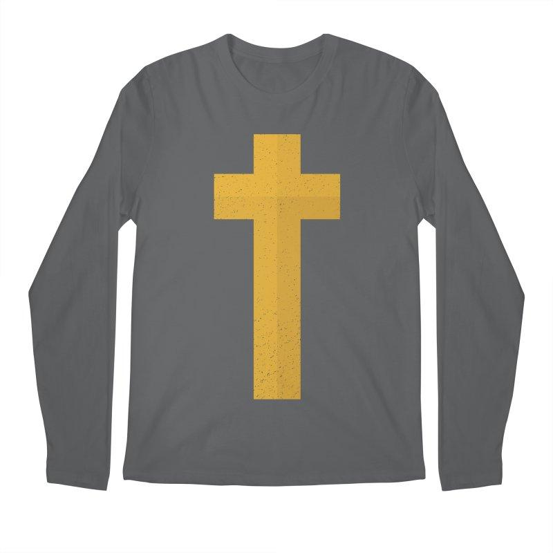 The Cross (gold) Men's Longsleeve T-Shirt by Reformed Christian Goods & Clothing