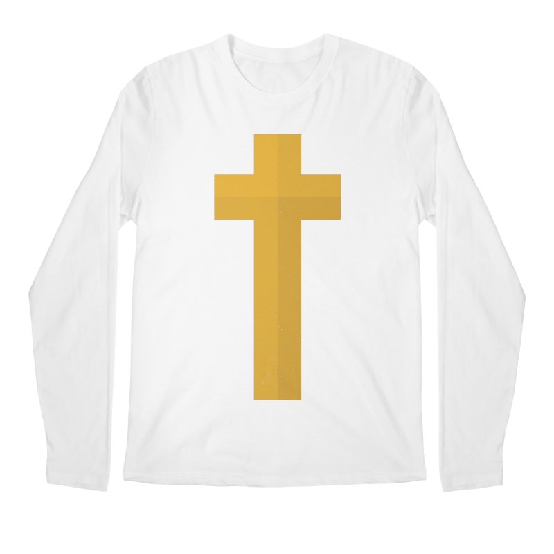 The Cross (gold) Men's Regular Longsleeve T-Shirt by Reformed Christian Goods & Clothing