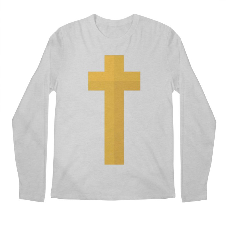 The Cross (gold) Men's Longsleeve T-Shirt by Reformed Christian Goods & Clothing