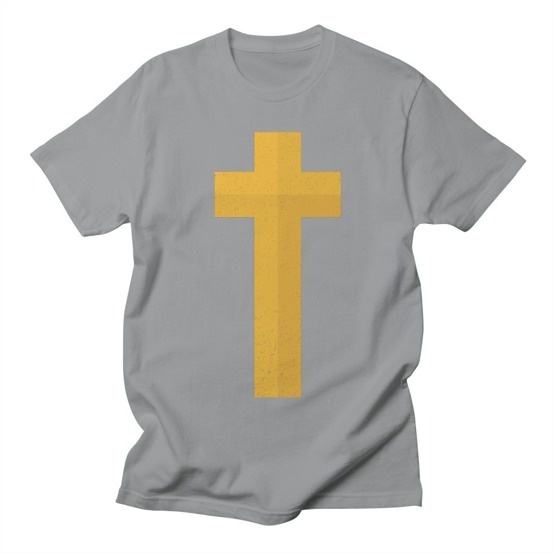 The Cross (gold) Women's Regular Unisex T-Shirt by A Worthy Manner Goods & Clothing