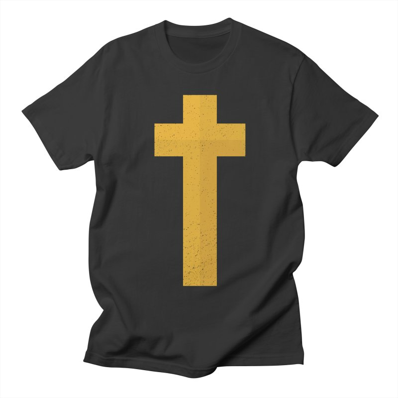 The Cross (gold) Men's T-shirt by Reformed Christian Goods & Clothing