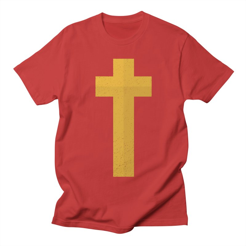 The Cross (gold) Women's Unisex T-Shirt by Reformed Christian Goods & Clothing