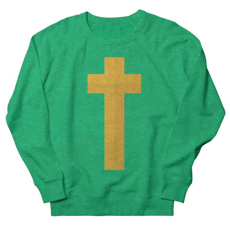 The Cross (gold) Women's Sweatshirt by A Worthy Manner Goods & Clothing