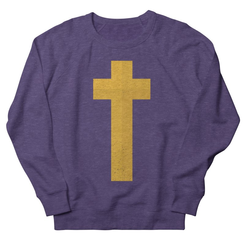 The Cross (gold) Women's French Terry Sweatshirt by Reformed Christian Goods & Clothing