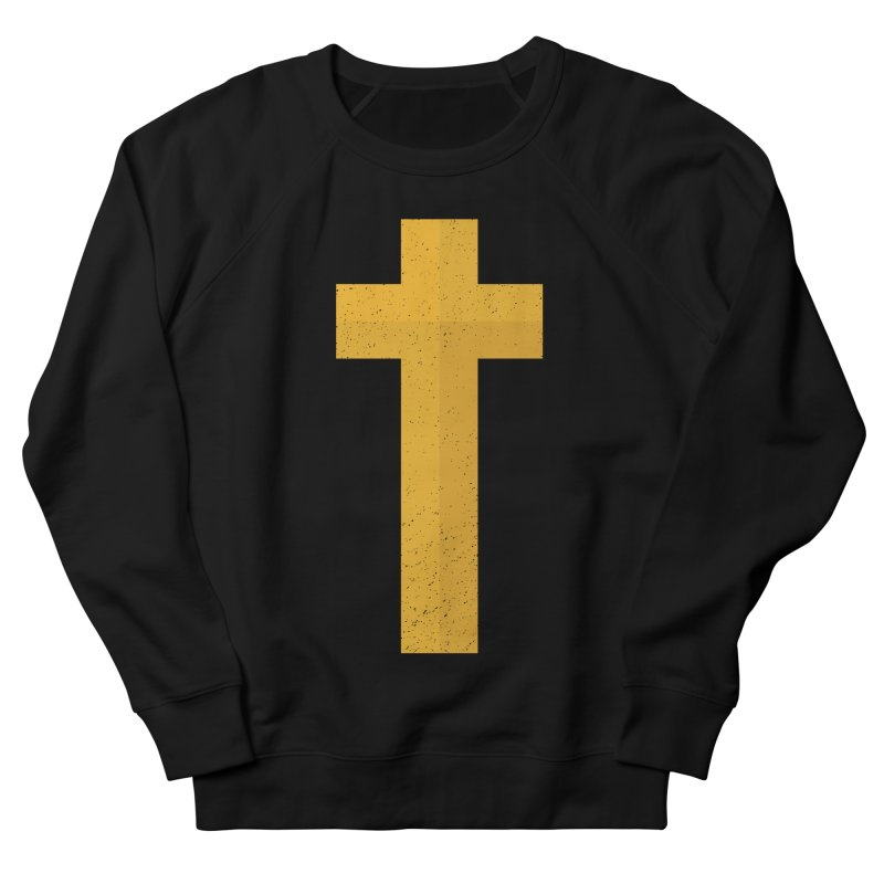 The Cross (gold) Men's Sweatshirt by Reformed Christian Goods & Clothing