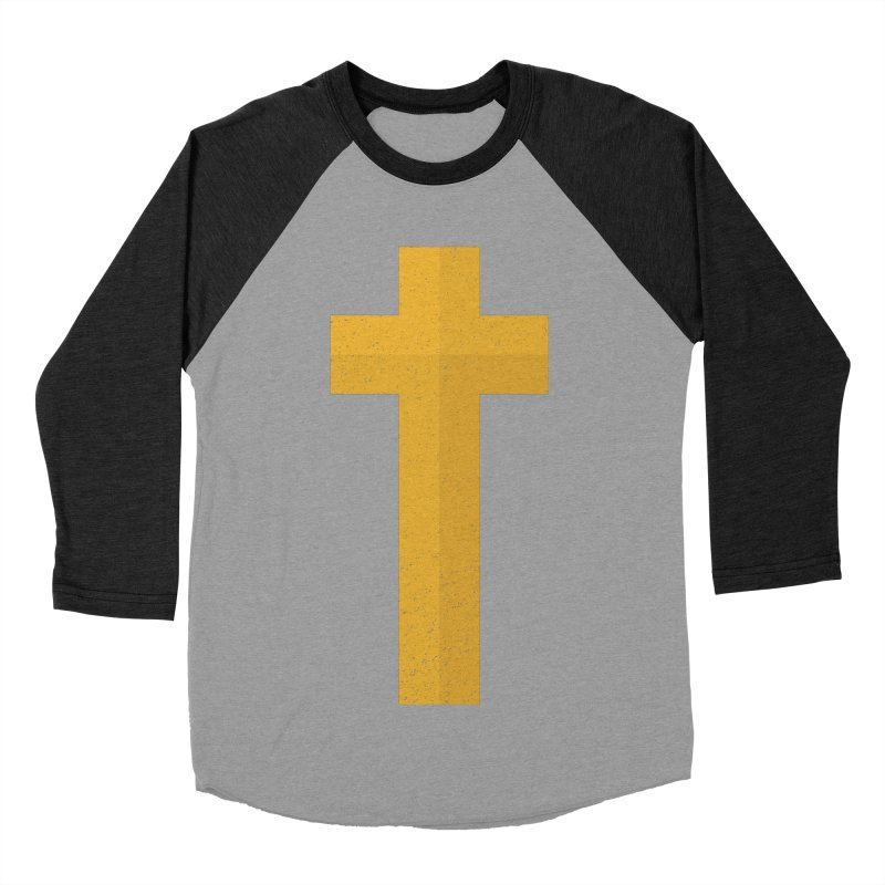 The Cross (gold) Men's Baseball Triblend T-Shirt by Reformed Christian Goods & Clothing