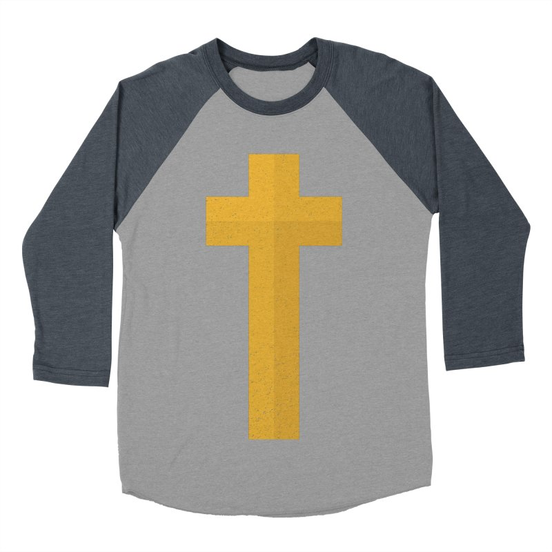 The Cross (gold) Men's Baseball Triblend T-Shirt by Reformed Christian Goods & Clothing