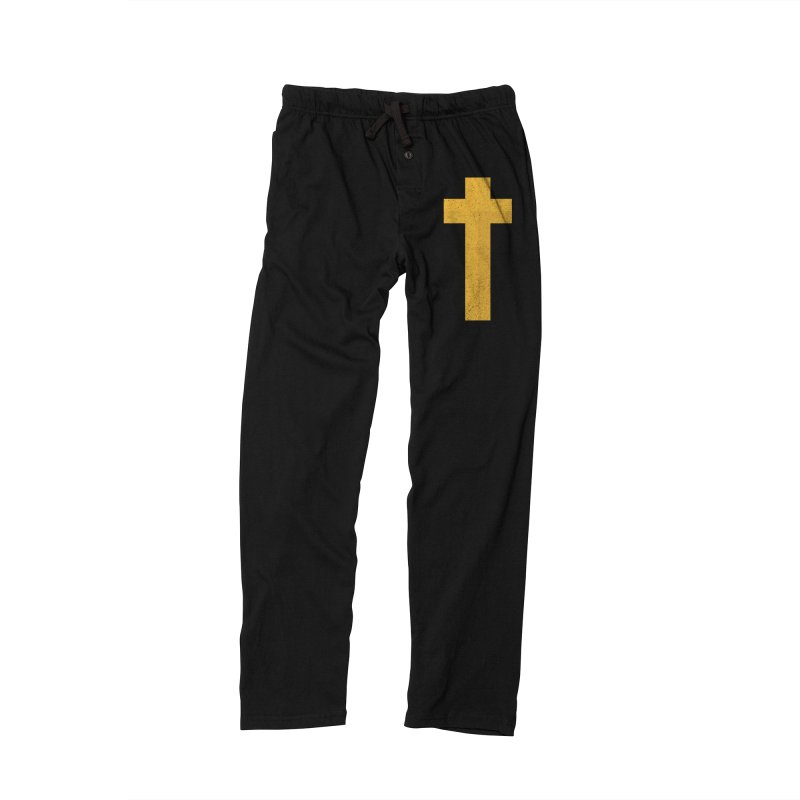 The Cross (gold) Men's Lounge Pants by Reformed Christian Goods & Clothing