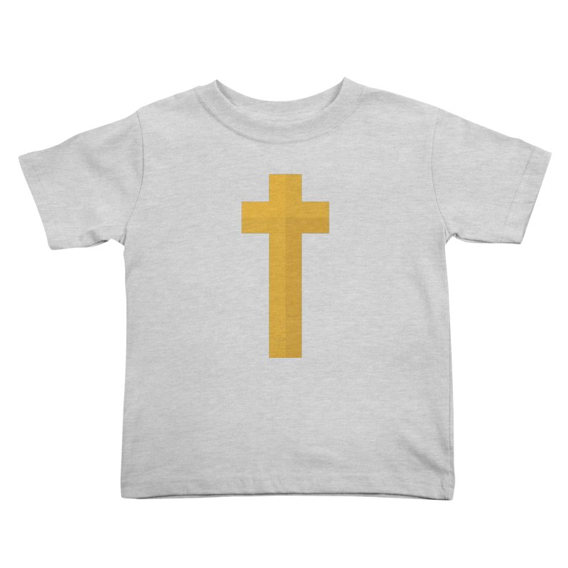 The Cross (gold) Kids Toddler T-Shirt by Reformed Christian Goods & Clothing