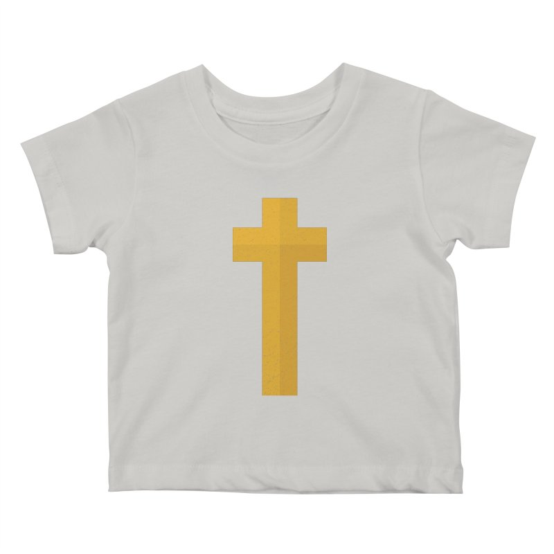 The Cross (gold) Kids Baby T-Shirt by Reformed Christian Goods & Clothing