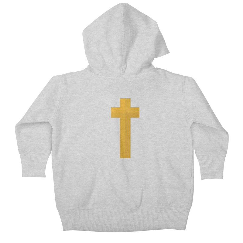 The Cross (gold) Kids Baby Zip-Up Hoody by Reformed Christian Goods & Clothing