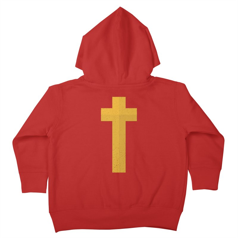 The Cross (gold) Kids Toddler Zip-Up Hoody by Reformed Christian Goods & Clothing