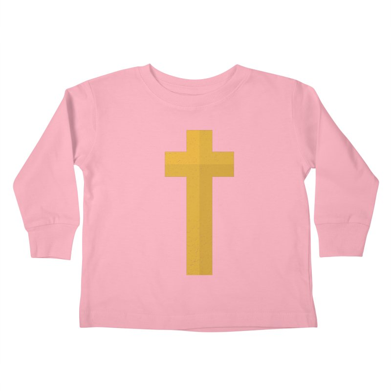 The Cross (gold) Kids Toddler Longsleeve T-Shirt by Reformed Christian Goods & Clothing