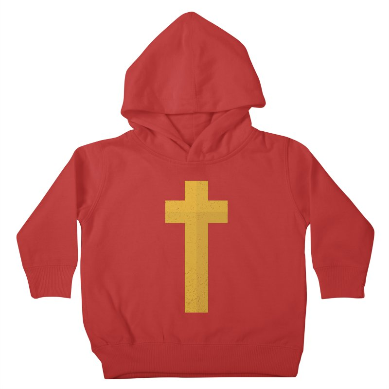 The Cross (gold) Kids Toddler Pullover Hoody by Reformed Christian Goods & Clothing