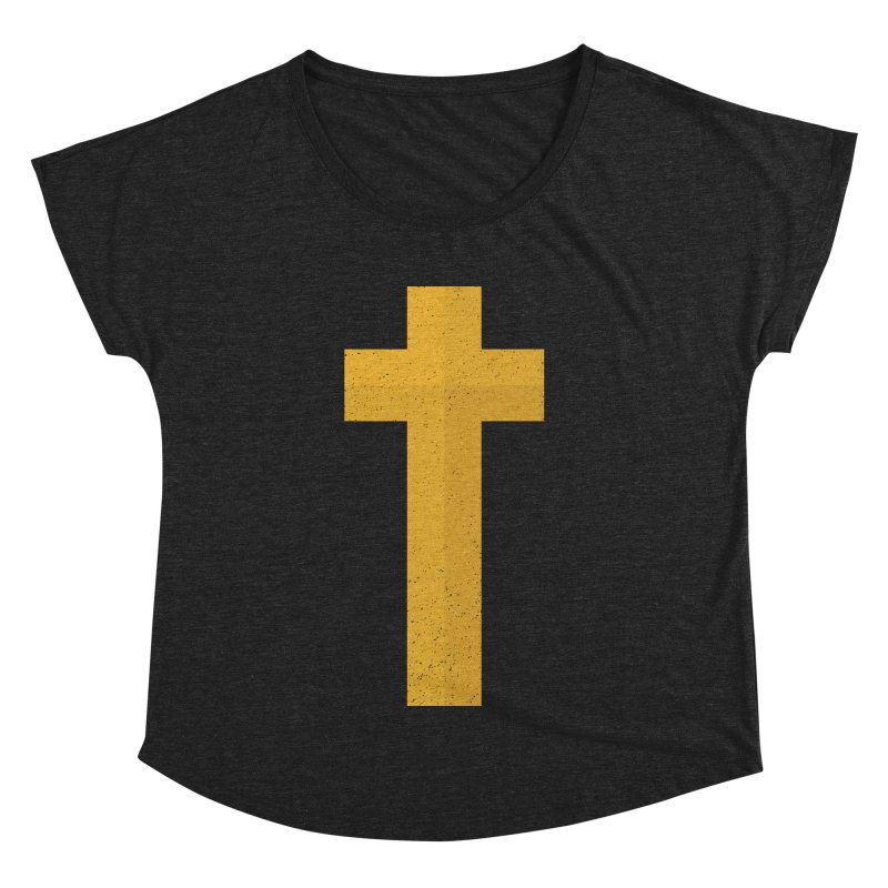 The Cross (gold) Women's Dolman by Reformed Christian Goods & Clothing