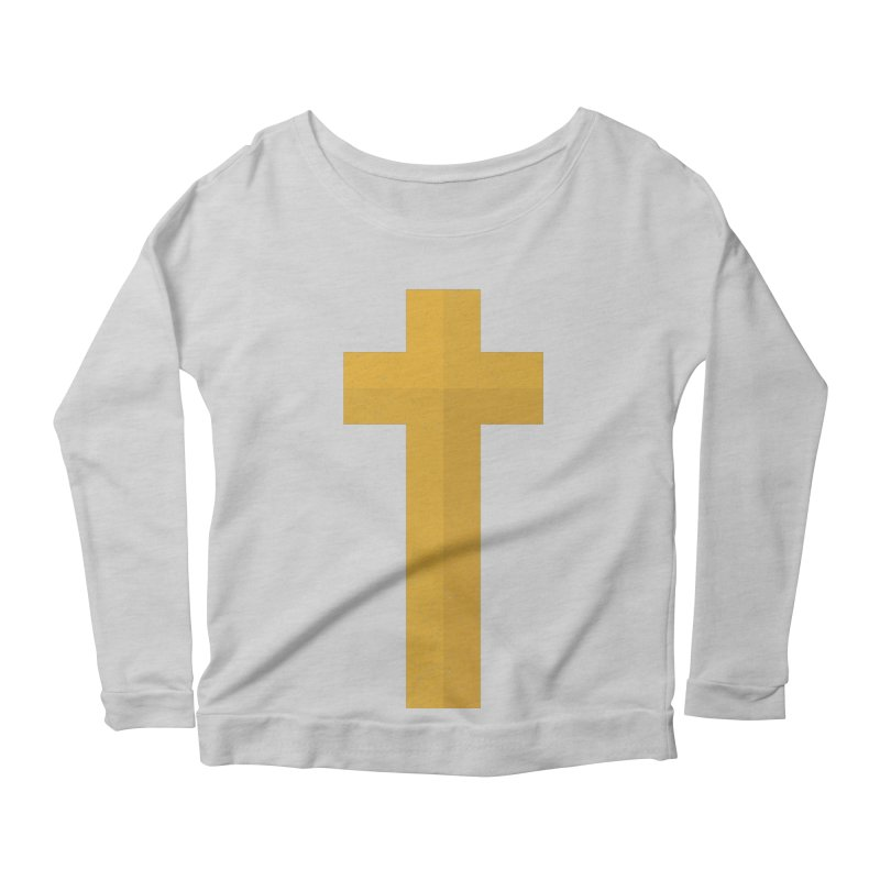 The Cross (gold) Women's Scoop Neck Longsleeve T-Shirt by Reformed Christian Goods & Clothing