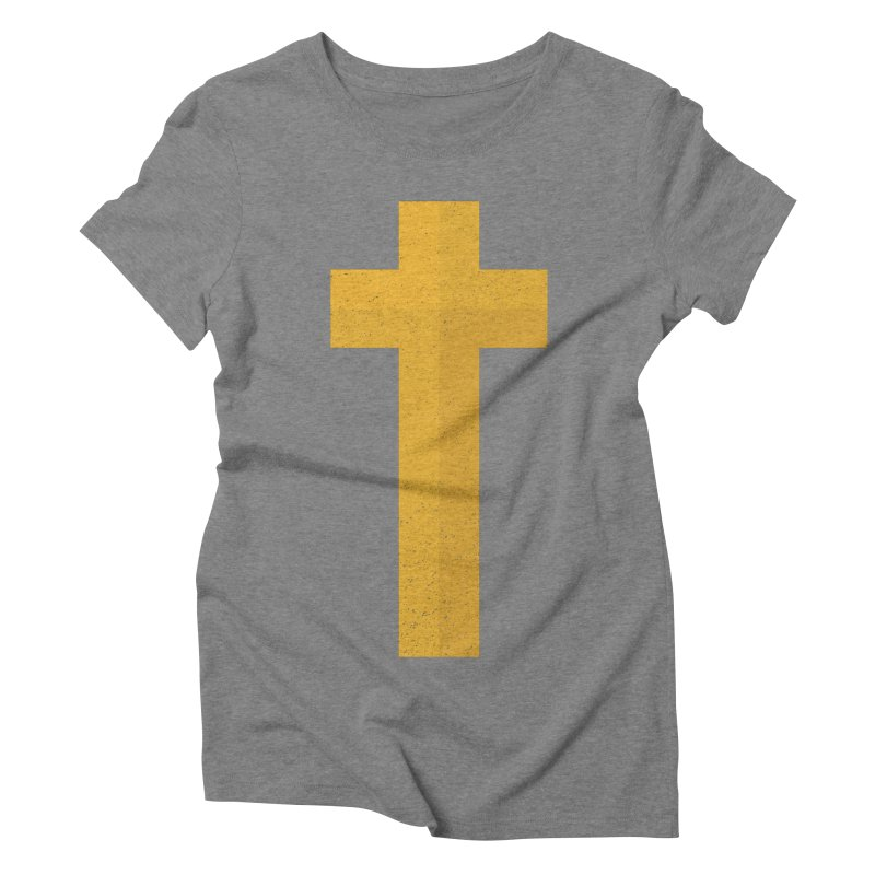 The Cross (gold) Women's Triblend T-shirt by Reformed Christian Goods & Clothing