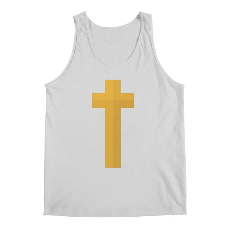 The Cross (gold) Men's Tank by Reformed Christian Goods & Clothing