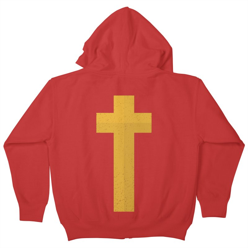 The Cross (gold) Kids Zip-Up Hoody by Reformed Christian Goods & Clothing