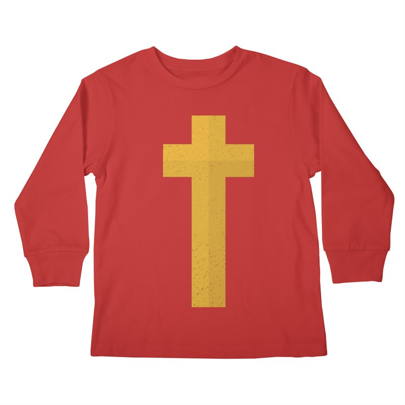 The Cross (gold) Kids Longsleeve T-Shirt by Reformed Christian Goods & Clothing