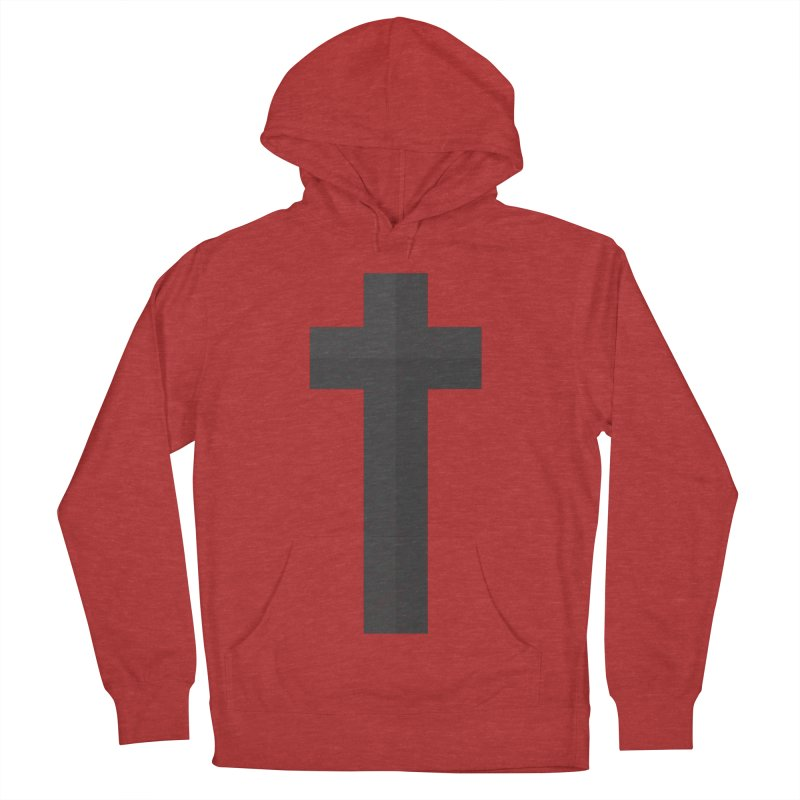 The Cross (black) Women's French Terry Pullover Hoody by A Worthy Manner Goods & Clothing