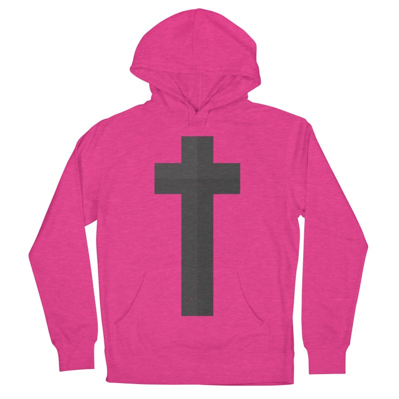 The Cross (black) Women's French Terry Pullover Hoody by Reformed Christian Goods & Clothing