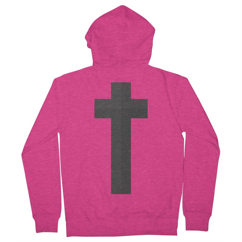 The Cross (black) Women's French Terry Zip-Up Hoody by A Worthy Manner Goods & Clothing