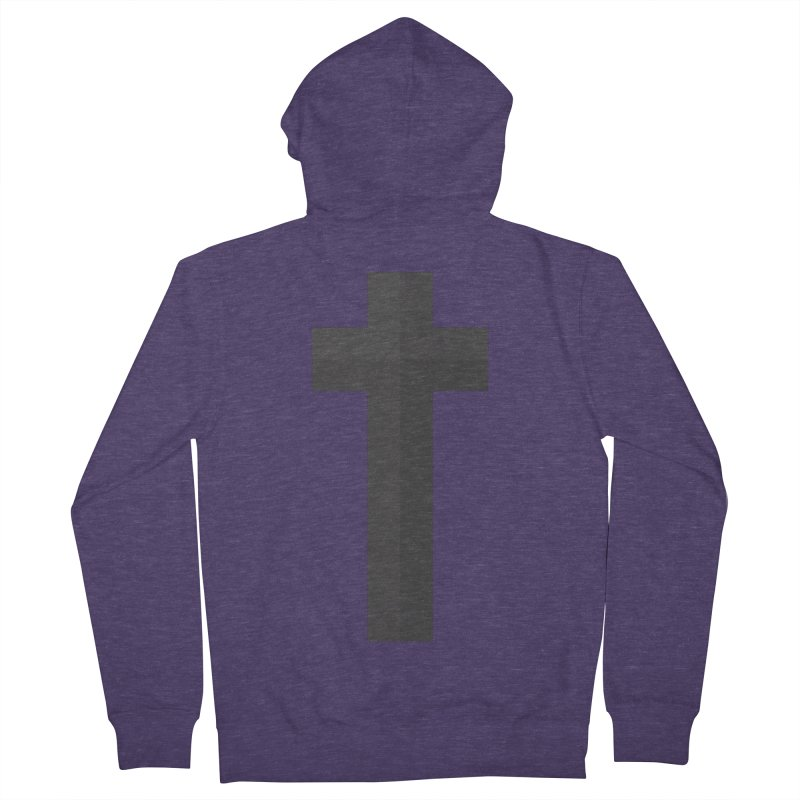 The Cross (black) Men's French Terry Zip-Up Hoody by A Worthy Manner Goods & Clothing