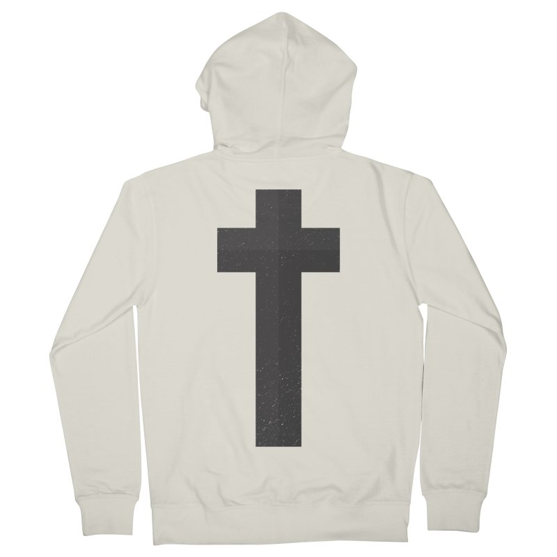 The Cross (black) Men's French Terry Zip-Up Hoody by Reformed Christian Goods & Clothing
