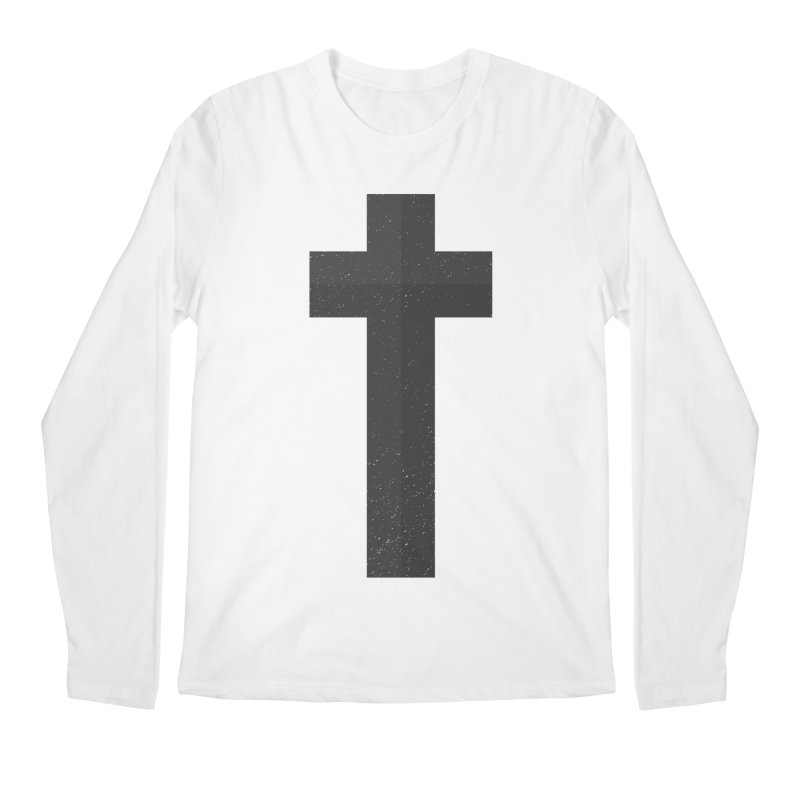 The Cross (black) Men's Regular Longsleeve T-Shirt by Reformed Christian Goods & Clothing