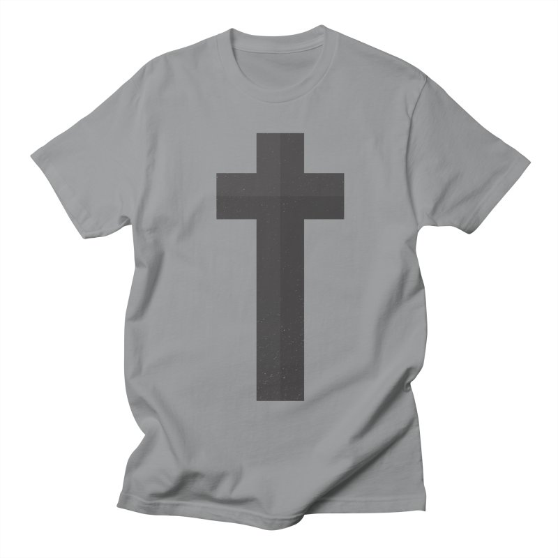 The Cross (black) Women's Regular Unisex T-Shirt by A Worthy Manner Goods & Clothing