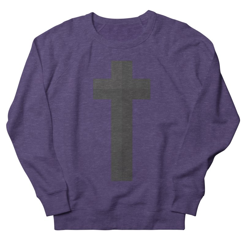 The Cross (black) Women's French Terry Sweatshirt by A Worthy Manner Goods & Clothing