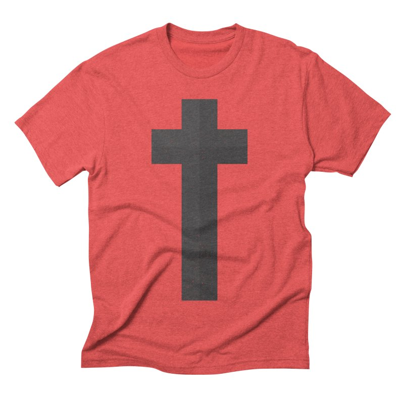 The Cross (black) Men's Triblend T-shirt by Reformed Christian Goods & Clothing