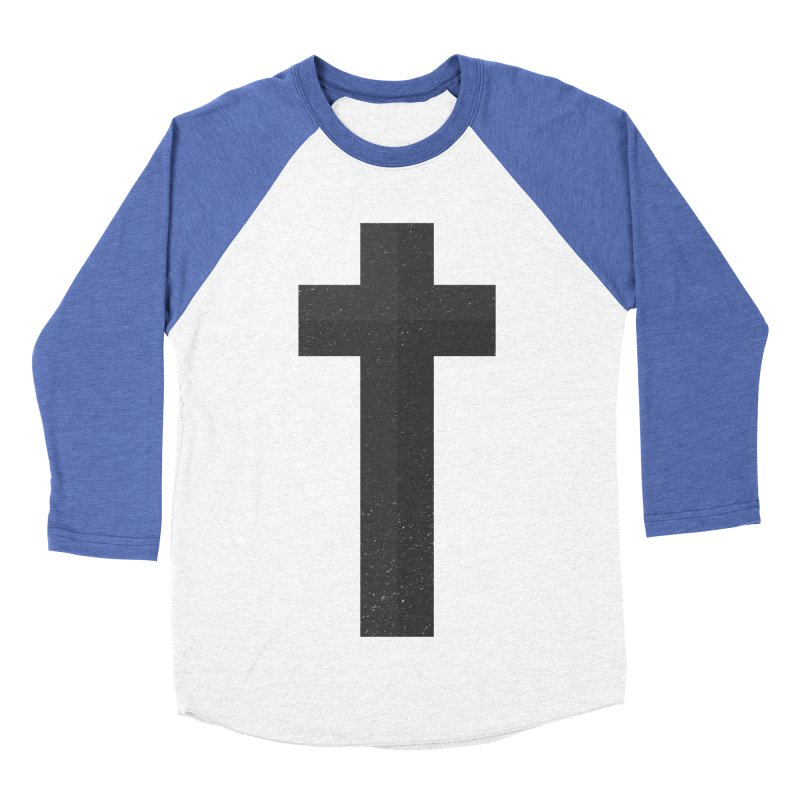 The Cross (black) Women's Baseball Triblend T-Shirt by Reformed Christian Goods & Clothing