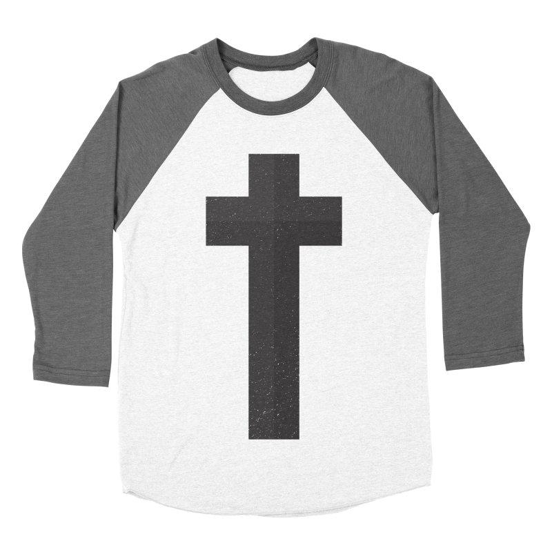 The Cross (black) Women's Baseball Triblend T-Shirt by Reformed Christian Goods & Clothing