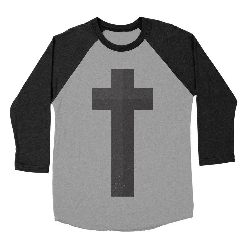 The Cross (black) Men's Baseball Triblend T-Shirt by Reformed Christian Goods & Clothing