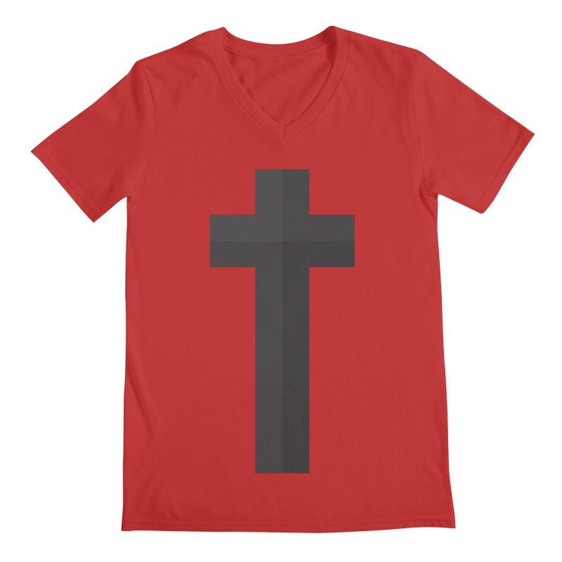 The Cross (black) Men's V-Neck by Reformed Christian Goods & Clothing