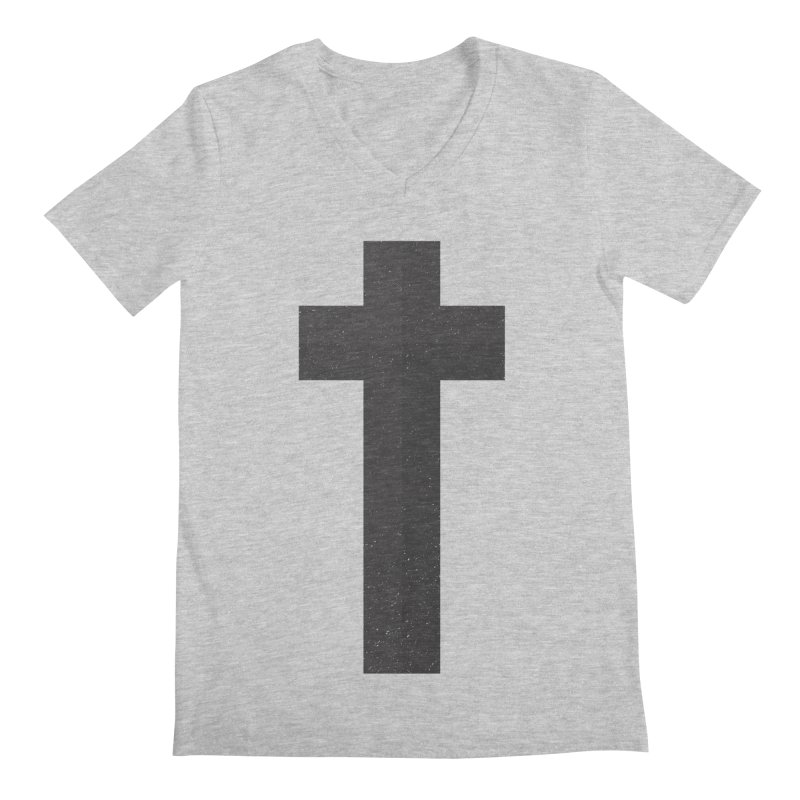 The Cross (black) Men's V-Neck by Reformed Christian Goods & Clothing