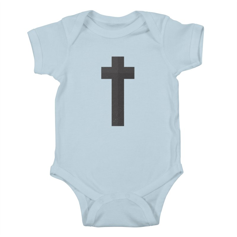 The Cross (black) Kids Baby Bodysuit by Reformed Christian Goods & Clothing