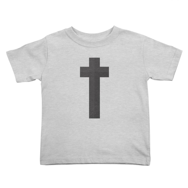 The Cross (black) Kids Toddler T-Shirt by Reformed Christian Goods & Clothing