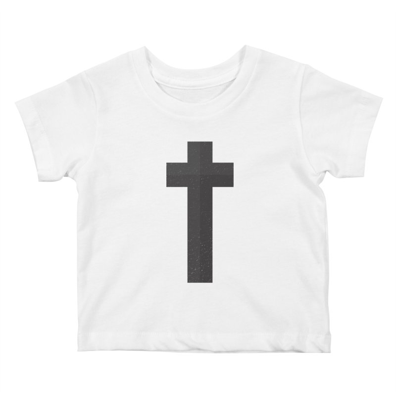 The Cross (black) Kids Baby T-Shirt by Reformed Christian Goods & Clothing