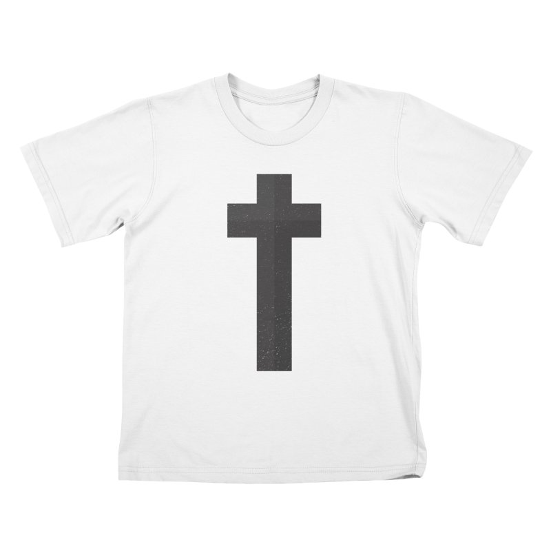 The Cross (black) Kids T-shirt by Reformed Christian Goods & Clothing